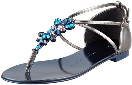 summer-essential-giuseppe-zanotti-blue-jeweled-flat-thong-sandal